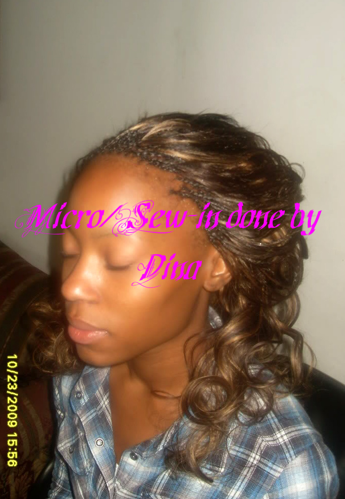 Micro Braids With Sew In Done By Dina Dina Professional