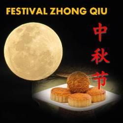 Festival Zhong Qiu (Festival Kue Bulan)