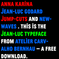 Free Download: Jean-Luc typeface by Atelier Carvalho Bernau