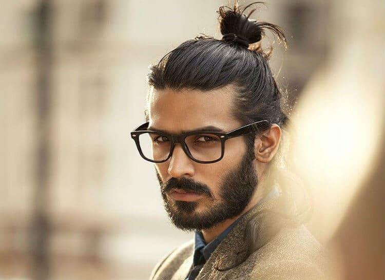 foto gaya model rambut trendy keren terbaru populer unik Top Knot