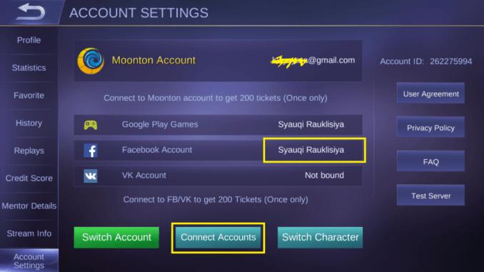 cara menghapus akun mobile legend profile level max cewek cantik bendera jepang connect dan dissconnect akun facebook