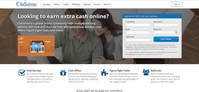 clix sense website situs penghasil uang yang menghasilkan dolar melalui paypal