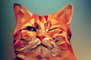 gambar vektor (vector) kucing wpap