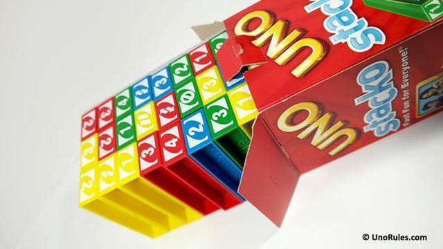 cara main uno stacko plastik tanpa dadu, uno dengan dus atau box, balok uno keluar dari boxnya
