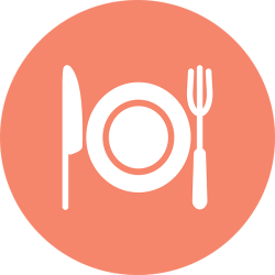 food icon fork knife plate meal spoon circle cutlery recap dine dish foods pro connects decade runs worth deep together