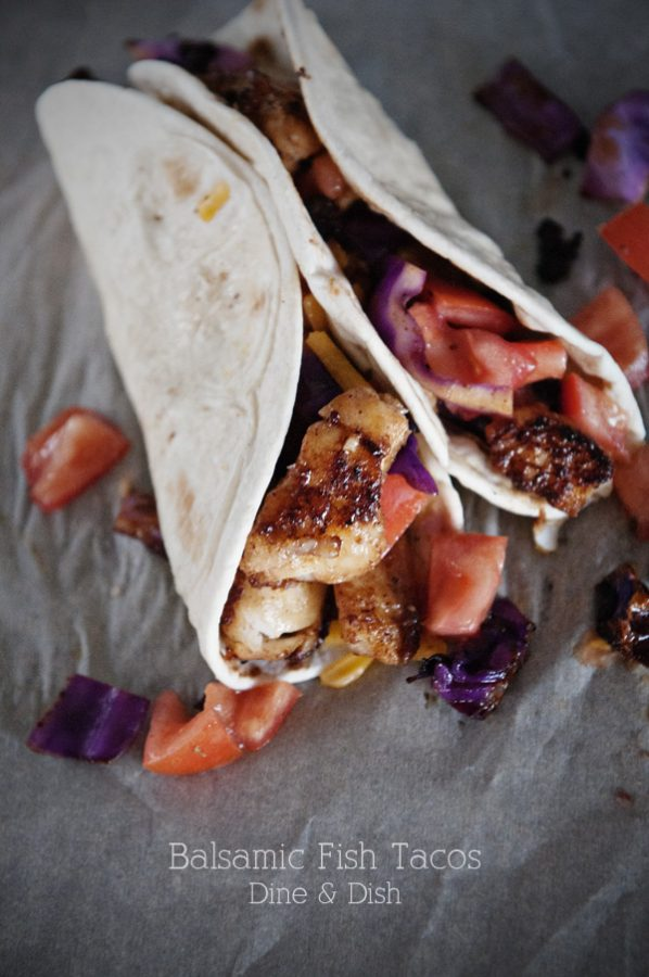 Balsamic Fish Tacos from www.dineanddish.net