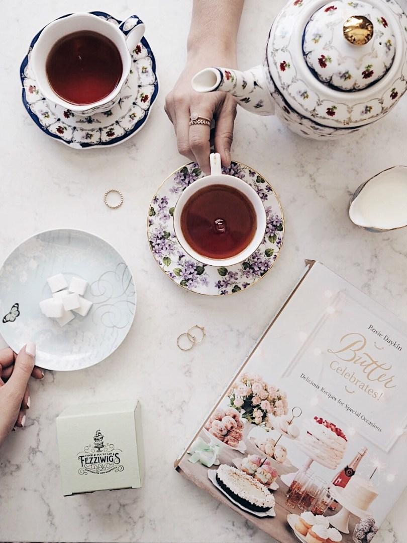 Beautiful tea sets at Fezziwig's Food & Fountain Portsmouth