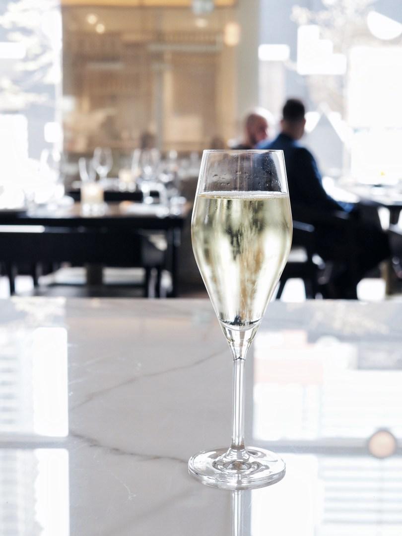 Glass of Prosecco at Ricarda's Toronto