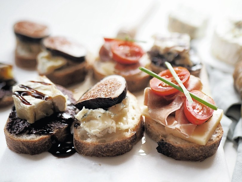 Delicious trio of crostini