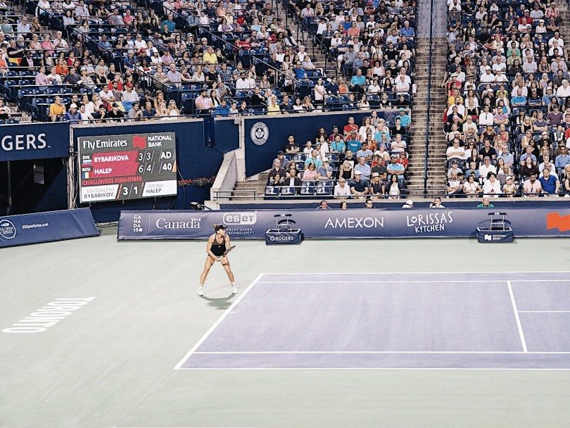 Watching the Rogers Cup 2017