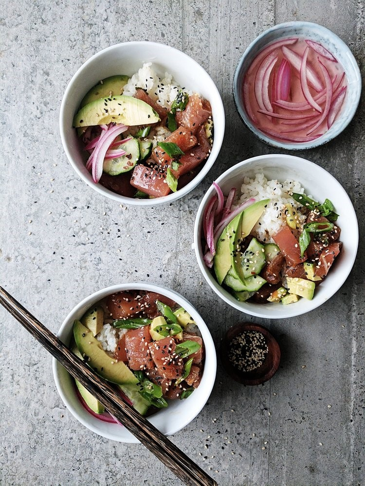 Hawaiian poke bowls by Diala's Kitchen
