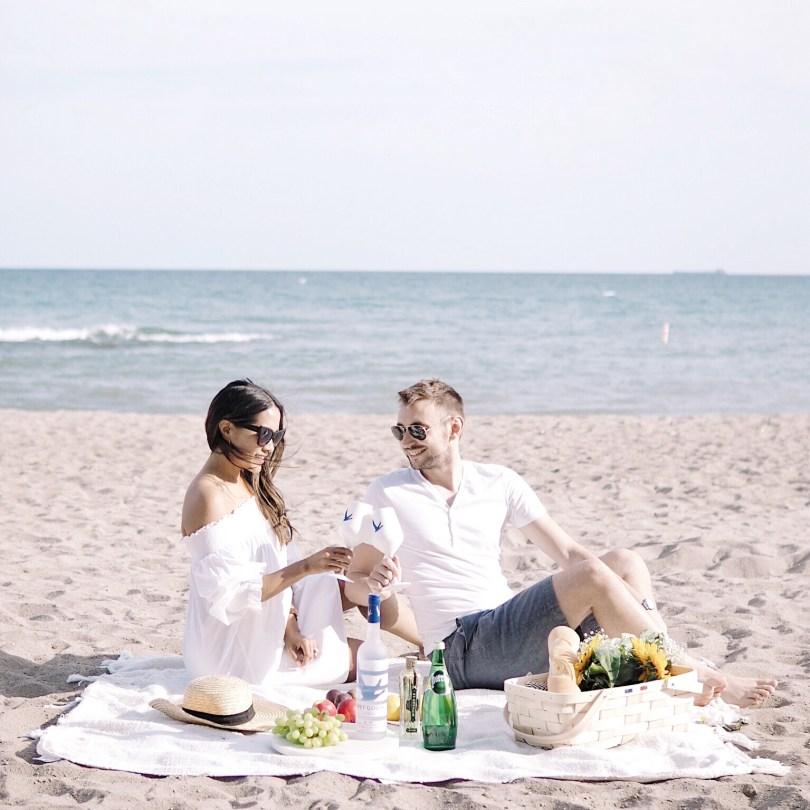 Photo enjoying Grey Goose outdoors with my husband