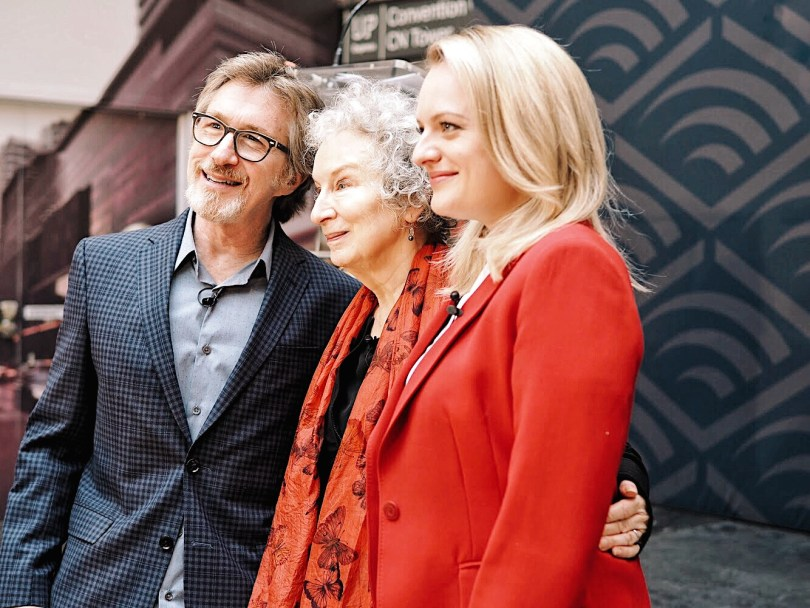 Don Katz, Margaret Atwood and Elisabeth Moss