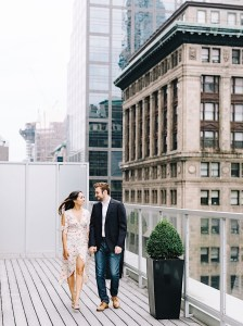 Walking on the rooftop terrace at Fifteen Hundred