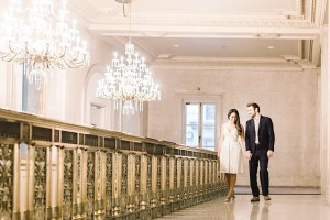 Walking in the Grand Staircase at One King West