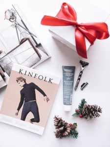 Kiehl's products for a gift for the guys for the holidays