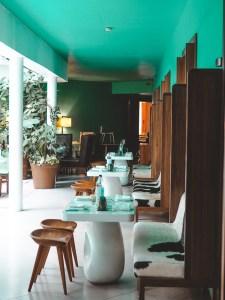 Restaurant and ground level restaurant at Condesa DF