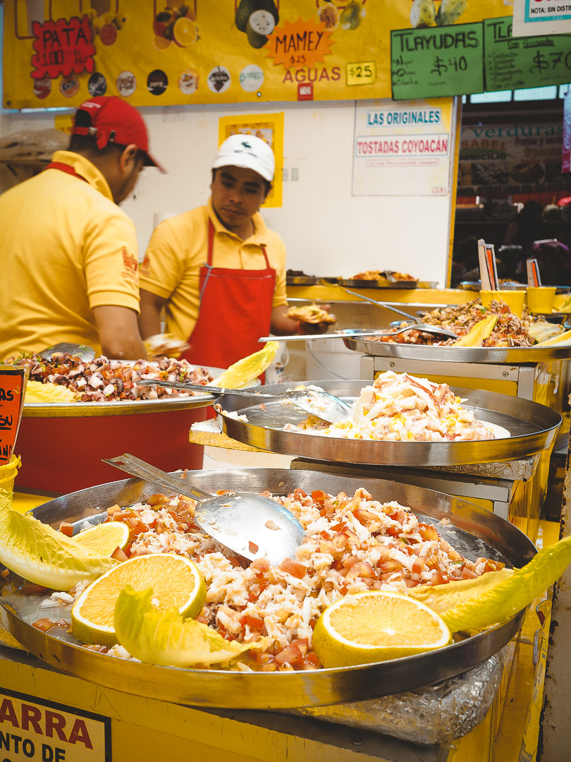 Food market in Coyoacan