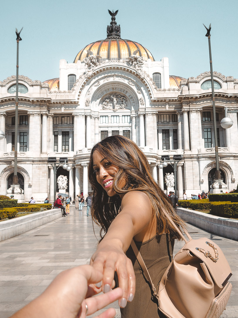 In front of Palacio de Bellas Artes