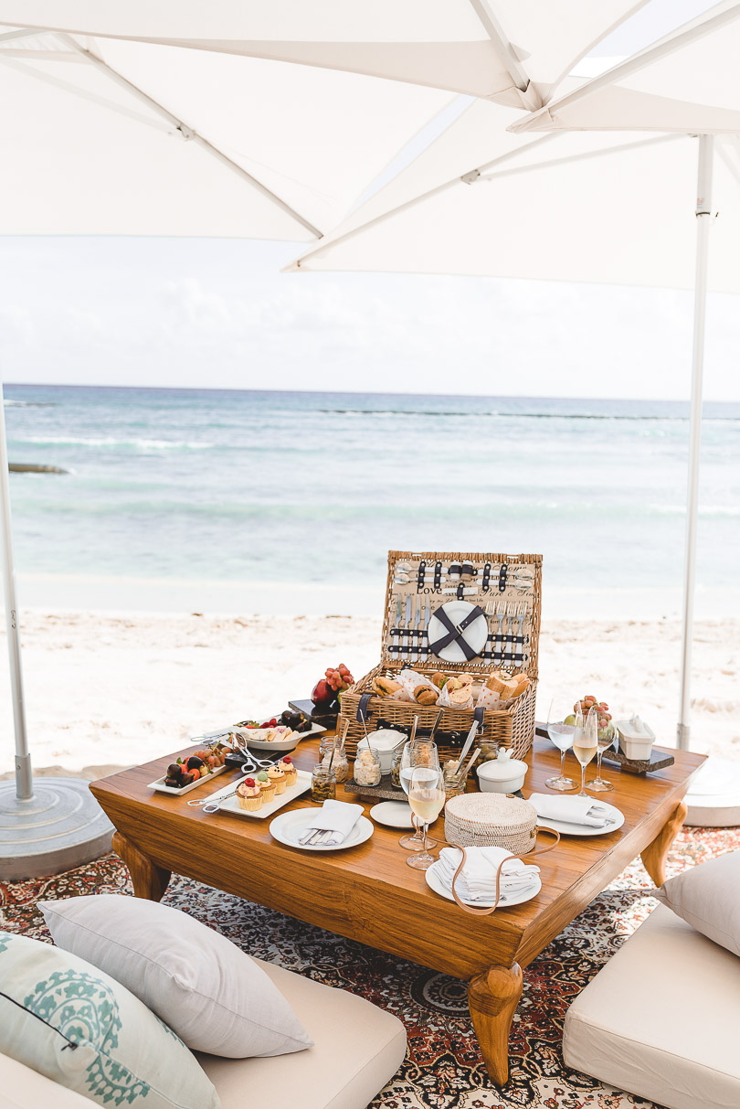 Lunch picnic at Grand Class beach
