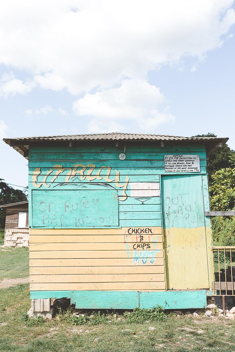 Pretty pastel shack in Jamaica
