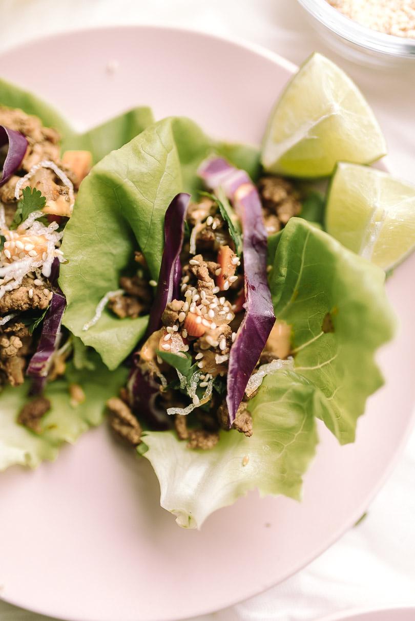 Asian chicken lettuce wraps using Canola oil