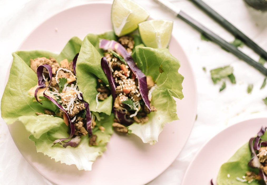Asian chicken lettuce wraps using Canola oil