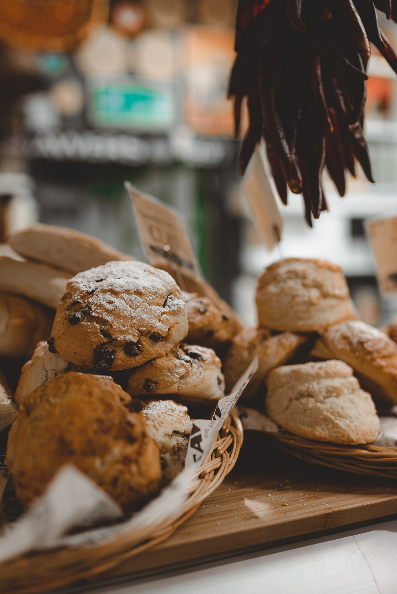 Freshly baked scones at Sawer's in Belfast