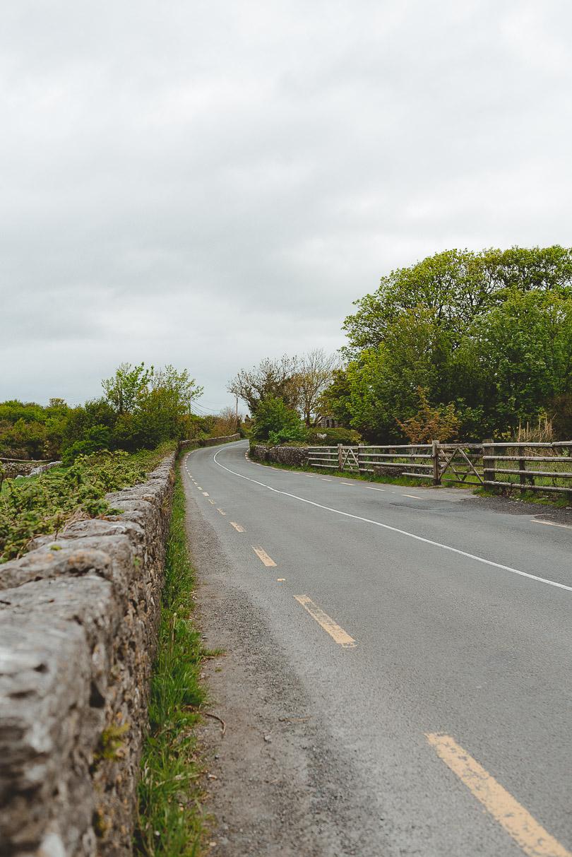 Irish countryside road