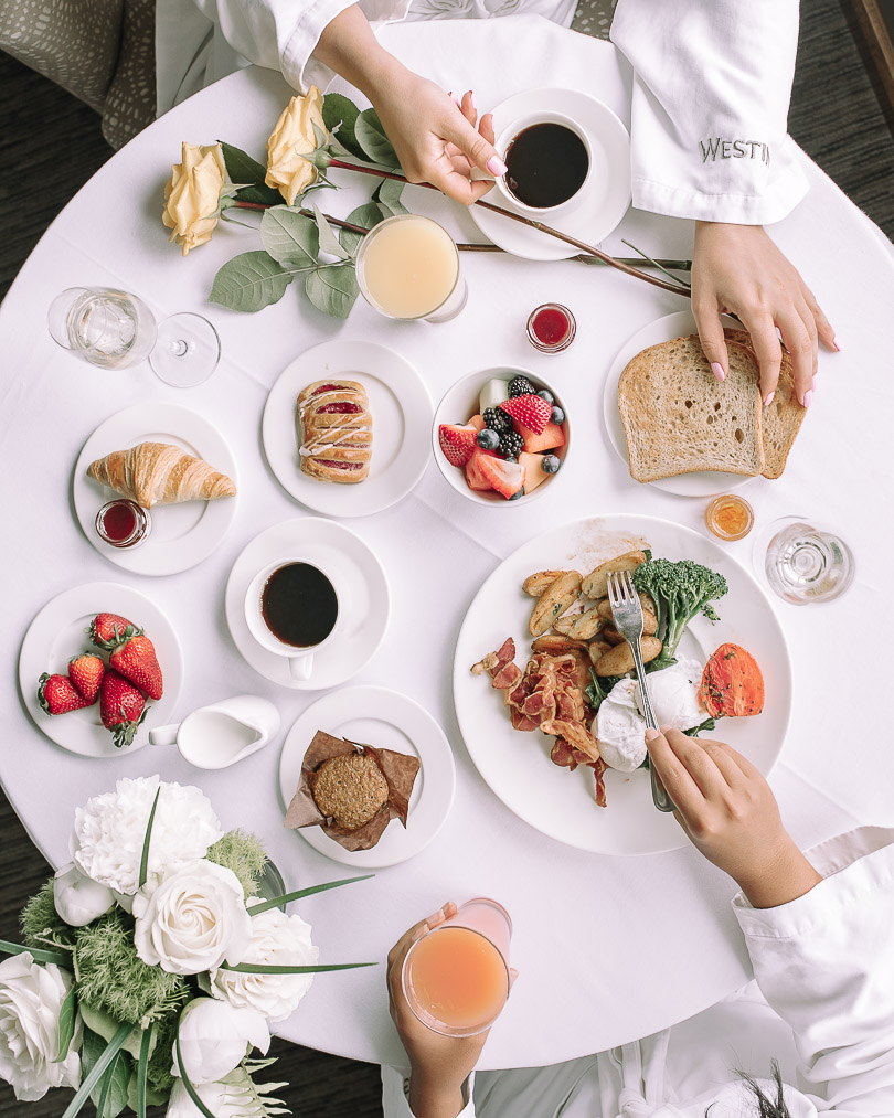 Breakfast spread at The Westin Harbour Castle