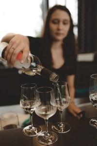 Flight of wine at Dark Horse Estate Winery