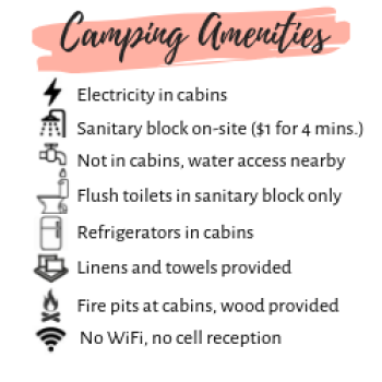 Amenities at Parc national d'Opemican
