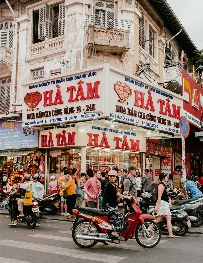 Ha Tam near Ben Thanh Market in Ho Chi Minh City