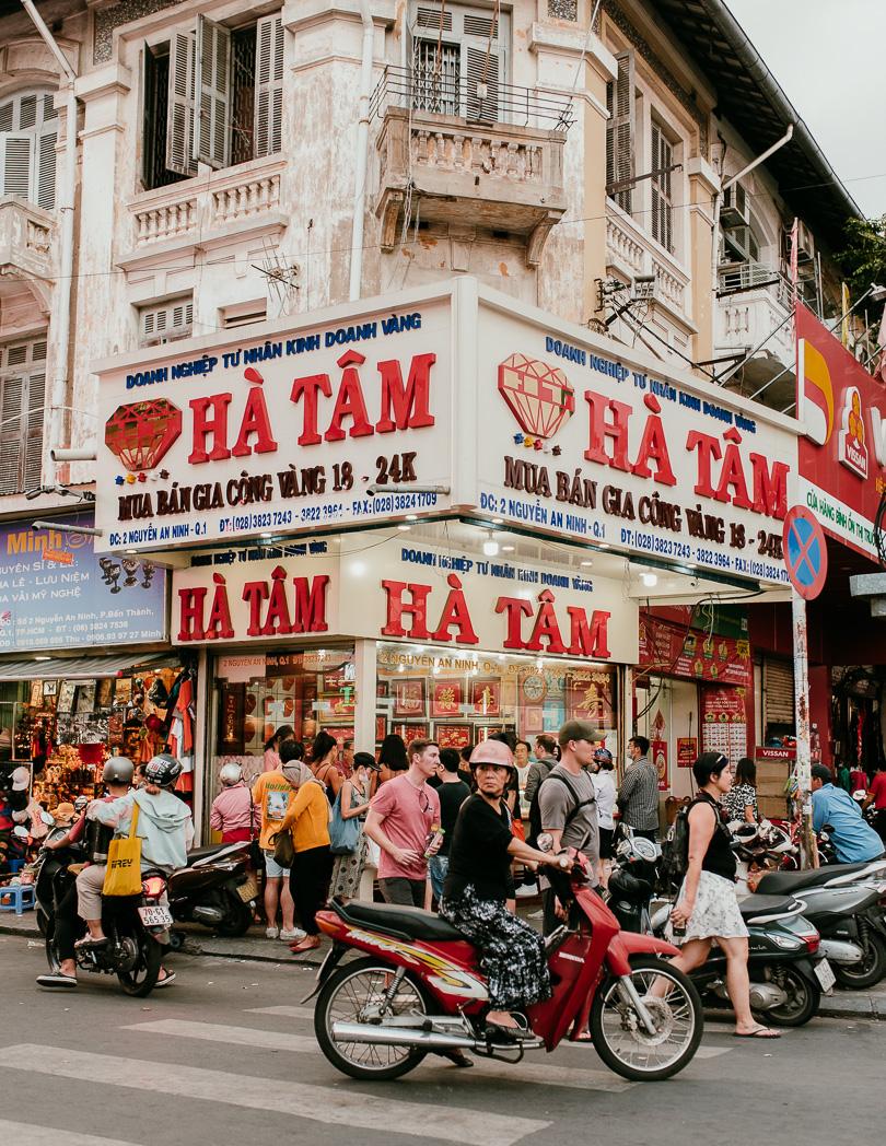 Ha Tam near Ben Thanh Market in Ho Chi Minh City