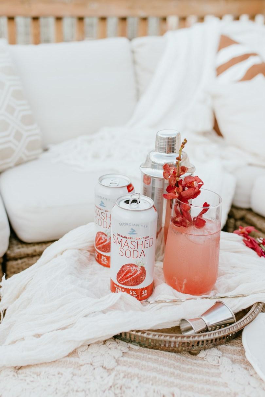 Strawberry Floradora made with Georgian Bay Strawberry Smashed Soda