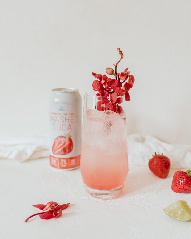 Strawberry Floradora with Georgian Bay Strawberry Smashed Soda