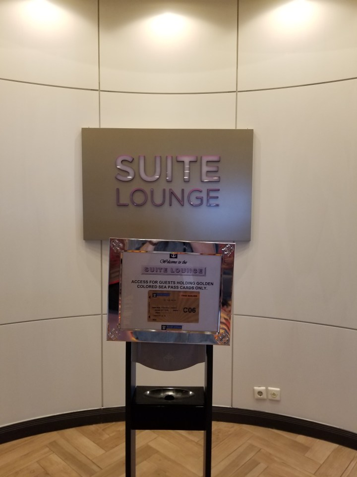 Entrance to the Suite Lounge on the Liberty of the Seas
