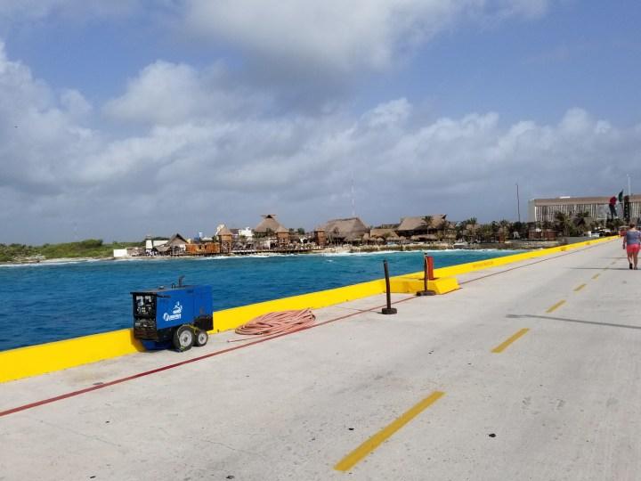 The pier in Costa Maya, Mexico.