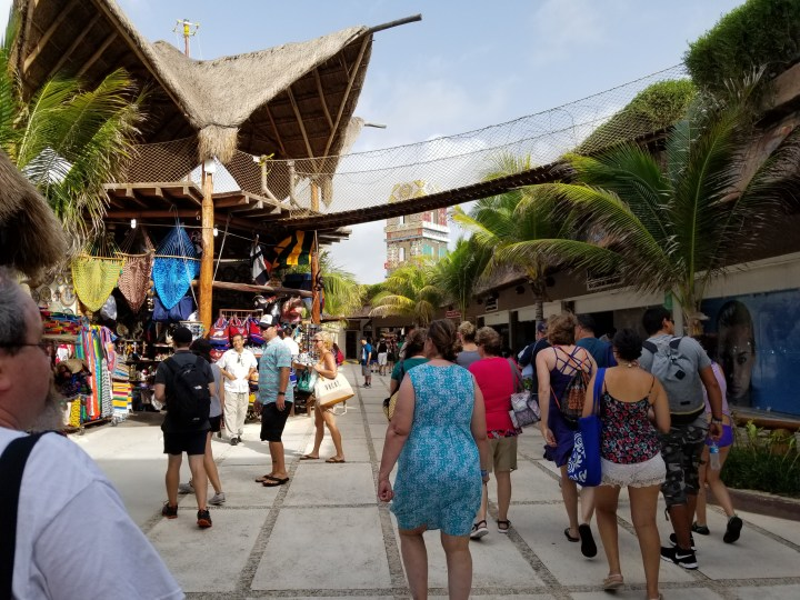 The extremely well developed pier area in Costa Maya, Mexico.