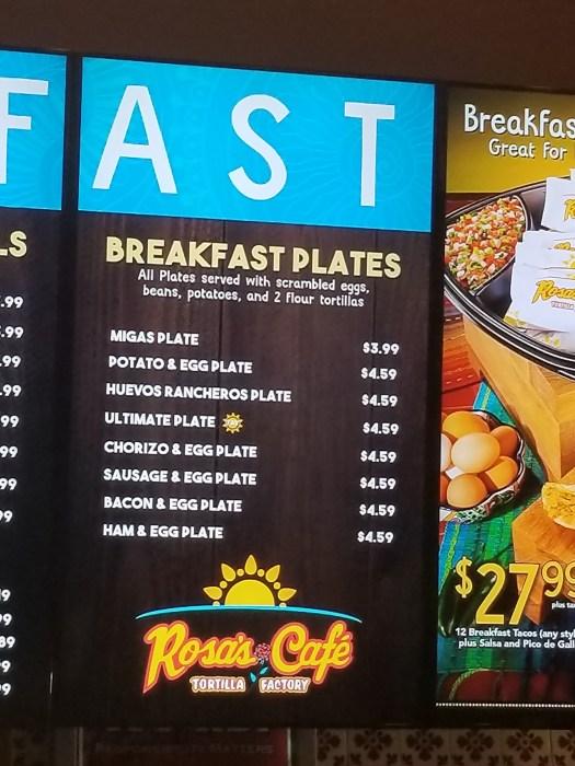 Fast Food Restaurants Breakfast