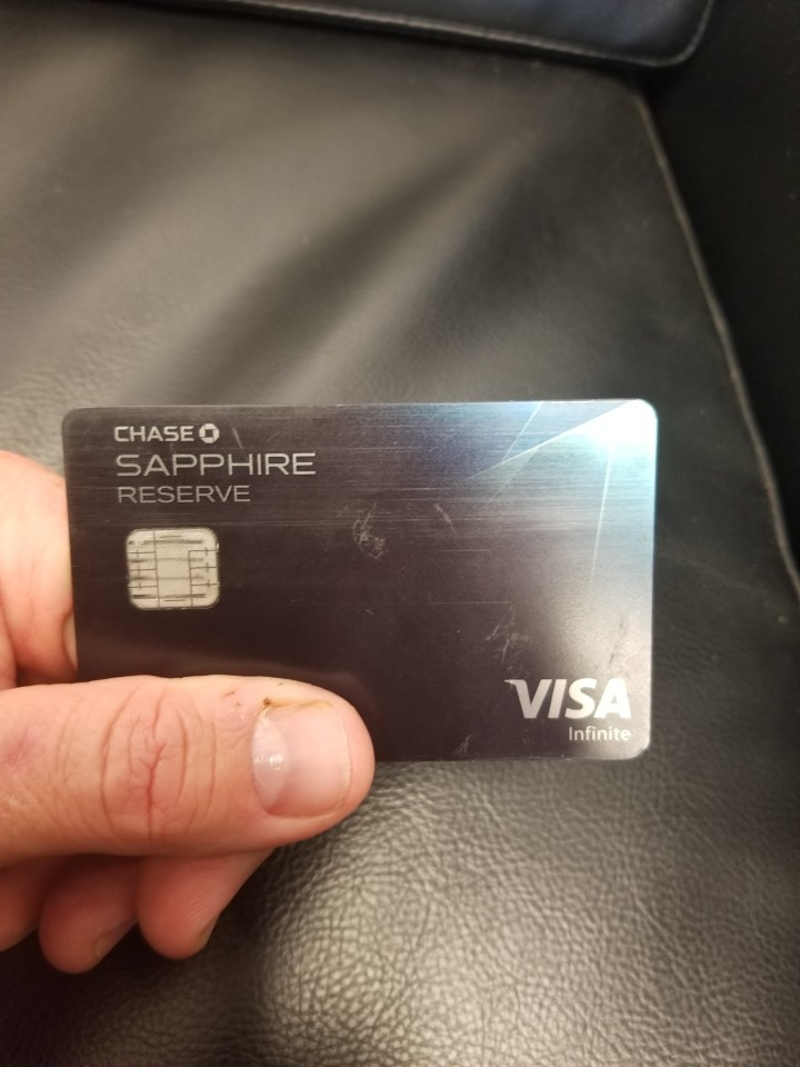 Chase Sapphire Reserve card.