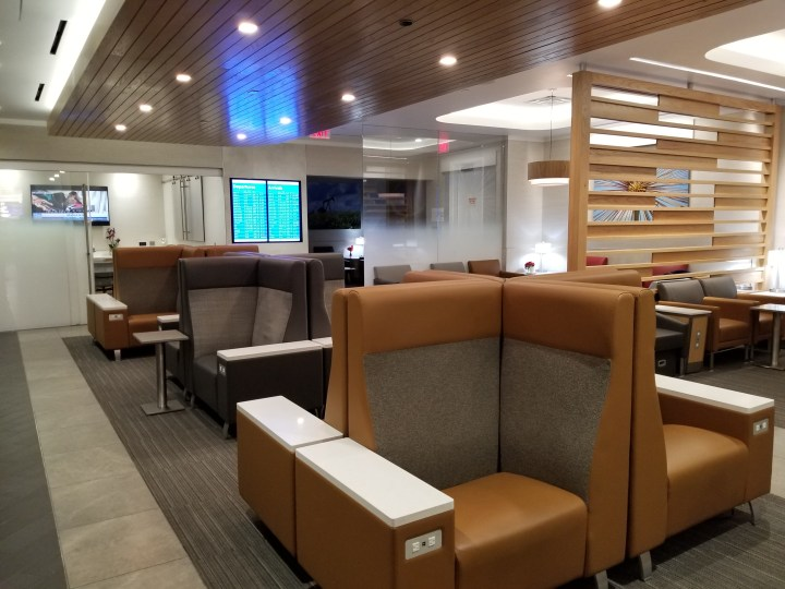 Seating area at the IAH Admiral's Club.