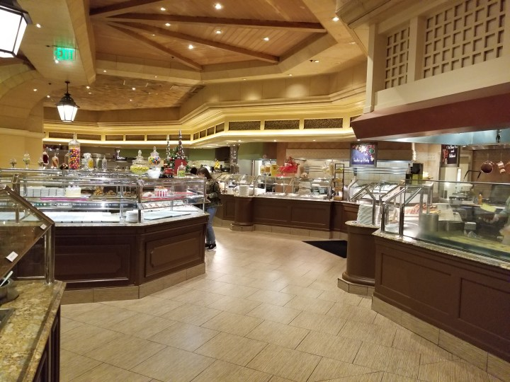 The Bellagio buffet in Las Vegas.