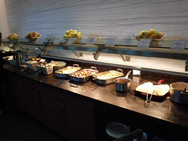 The breakfast buffet in the American Express Centurion Lounge. I prefer the lunch and dinner offerings, but this is still a great way to start a day of travel.