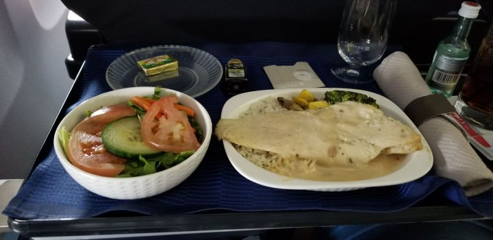 United First Class Meal from San Juan to Houston.