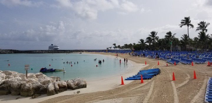 One of the beaches at Great Stirrup Cay, NCL's private island in the Bahamas.