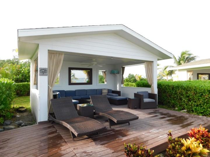 Large cabana on Great Stirrup Cay