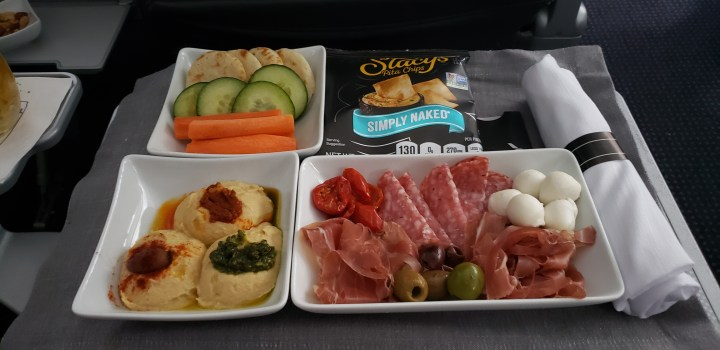 Zoe's Charcuterie Plate on American Airlines
