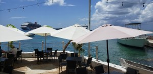 Lunch at the Cayman Cabana in Grand Cayman.