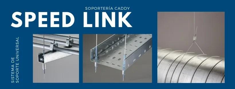 Imagen con ejemplos de aplicaciones del NVENT CADDY SPEED LINK SISTEMA DE SOPORTE UNIVERSAL